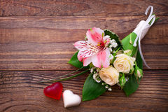 Wedding bouquet, background. Stock Photos