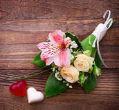 Wedding bouquet, background. Royalty Free Stock Photography