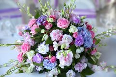 Wedding bouquet at the Banquet Stock Images