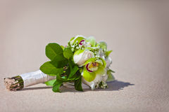 Wedding Bouquet on the Beach Royalty Free Stock Image