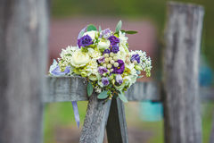 Wedding bouquet. Beautiful bouquet. Outdoor. Royalty Free Stock Photo