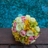 Wedding bouquet. Beautiful colorful flower wedding bouquet Royalty Free Stock Images