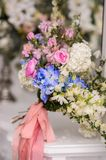 Beautiful Wedding bouquet. Wedding bouquet of beautiful flowers. The bride's bouquet royalty free stock image