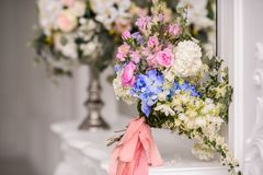 Beautiful Wedding bouquet. Wedding bouquet of beautiful flowers. The bride's bouquet royalty free stock photos