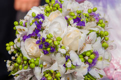 Wedding bouquet of beautiful  flowers Royalty Free Stock Photography