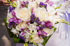 Wedding bouquet of beautiful  flowers Stock Images