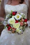 Wedding bouquet. A beautiful multicolored wedding bouquet Stock Image
