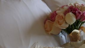 Wedding Bouquet stock video footage