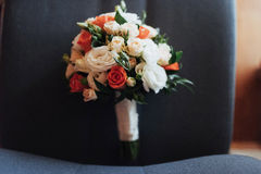 Wedding bouquet, best day in my life. Wedding bouquet. best day in my life royalty free stock photography