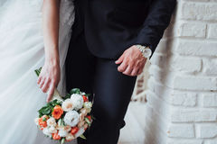 Wedding bouquet best day in my life. Wedding bouquet. best day in my life royalty free stock photography