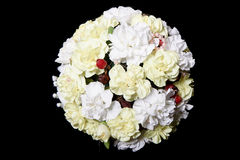 Wedding Bouquet on black background Royalty Free Stock Photo