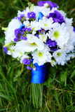 Wedding bouquet in blue and white Stock Photo