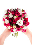 Wedding bouquet on the boards Royalty Free Stock Image