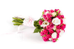 Wedding bouquet on the boards Royalty Free Stock Photography