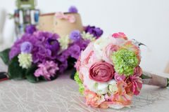 Wedding Bouquet. Wedding/Bridal bouquet of flower on a table Royalty Free Stock Photo