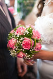 Wedding bouquet of the bride stock image