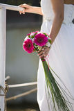 Wedding bouquet of the bride. The bridal bouquet in the hand stock photography