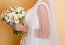 Wedding bouquet of the bride Royalty Free Stock Image