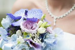Wedding bouquet and bride Royalty Free Stock Photos