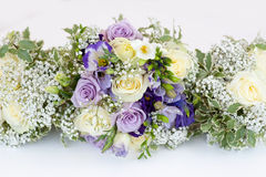 Wedding bouquet of bride and bridesmaids Stock Photo