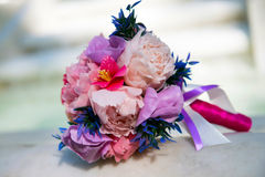 Wedding bouquet of the bride. Royalty Free Stock Photography