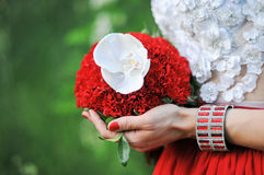 Wedding bouquet of the bride Royalty Free Stock Images