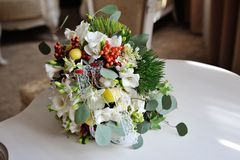 Wedding bouquet of bride Royalty Free Stock Photo