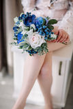Wedding bouquet. Bride`s flowers Stock Photography