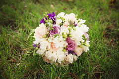 Wedding bouquet. Bride`s flowers Royalty Free Stock Photos