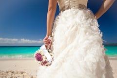 Wedding bouquet in bride's hand Royalty Free Stock Photos