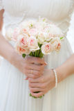 Wedding bouquet at bride's hands. This is wedding bouquet at bride's hands Royalty Free Stock Photos