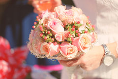 Wedding bouquet. At bride's hands Stock Photo