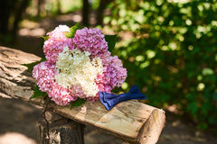 Wedding bouquet and butterfly Royalty Free Stock Photo