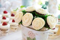 Wedding bouquet-cake made of cupcakes Stock Photos
