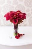 Wedding bouquet with callas Stock Photo
