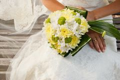 Wedding bouquet of chrysanthemum flowers Stock Images