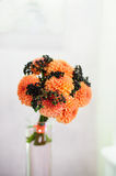Wedding bouquet of chrysanthemums Royalty Free Stock Photo