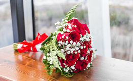 Wedding bouquet close-up Stock Photos
