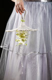 Wedding bouquet close up in hands Stock Images