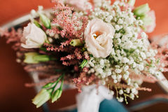 Wedding bouquet closeup Stock Image