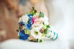 Wedding bouquet. Closeup on a light background Royalty Free Stock Photos