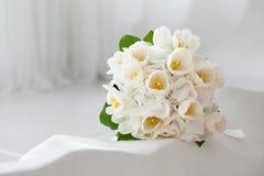 Wedding bouquet. Closeup on a light background Stock Photo