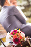 Wedding bouquet closeup Stock Photo
