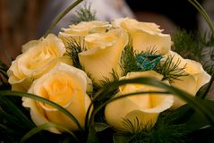 Wedding bouquet composed of roses royalty free stock photo