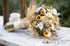 Wedding bouquet of dry flowers Royalty Free Stock Photos