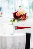 Wedding bouquet on a fancy mailbox Royalty Free Stock Photography