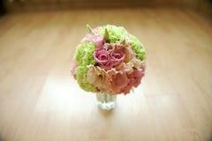 Wedding Bouquet on Floor Stock Photography