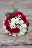 The wedding bouquet on the floor. Wedding bouquet on the floor Royalty Free Stock Images