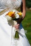 Wedding bouquet flower arrangement stock photo