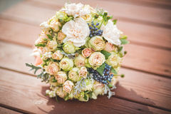 Wedding bouquet. Wedding flower for a beautiful bride Royalty Free Stock Photo